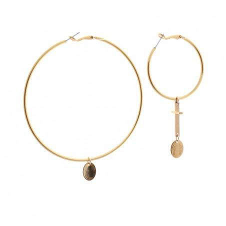 'Croix' Creole earrings