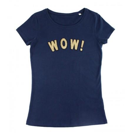 t-shirt WOW! bleu marine