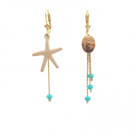 short 'Etoile de mer' earrings