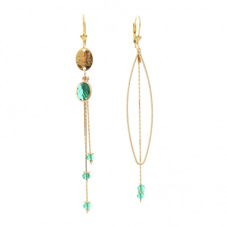 'Cristal Amande' earrings
