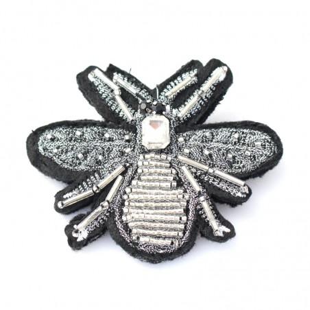 broche Beetle - argenté