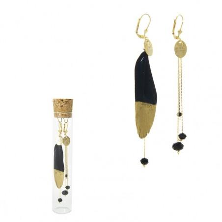 black 'Plumi' earrings