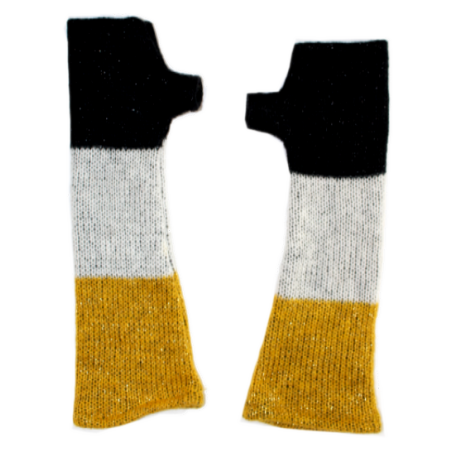 'Trio' fingerless gloves