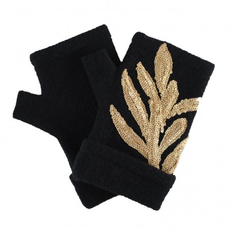 'César' fingerless gloves