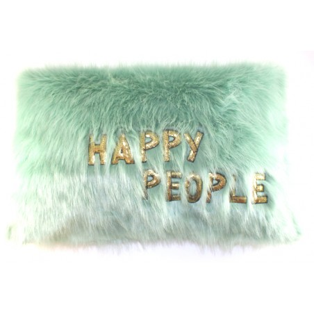 rectangle 'Happy' pillow
