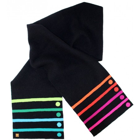 'Punti' scarf with lines