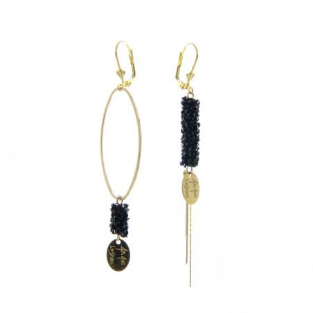 'Caviar' earrings - large ring