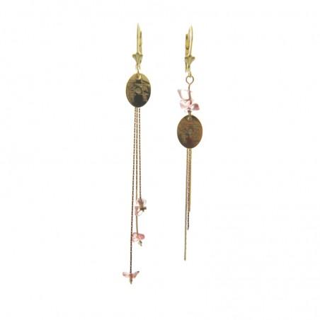 'Stone' earrings powder pink