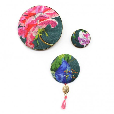 green bottle 'Hana' brooches