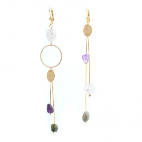 multi 'Galet' earrings