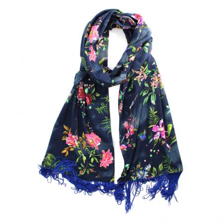 marine blue 'Hana' scarf