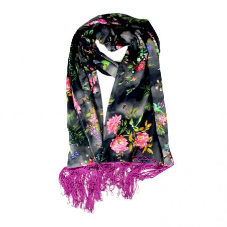 black 'Hana' scarf
