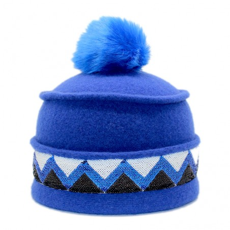 'Sioux' toque - blue ribbon