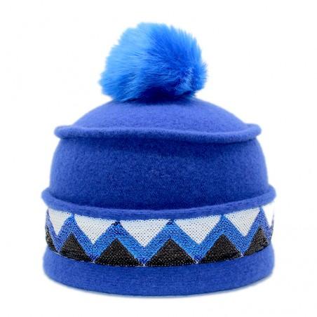 toque Sioux ruban bleu