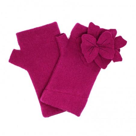 'Flora' fingerless gloves