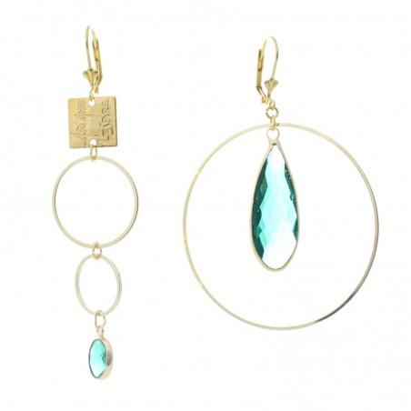 trio 'Mega Cristal' earrings