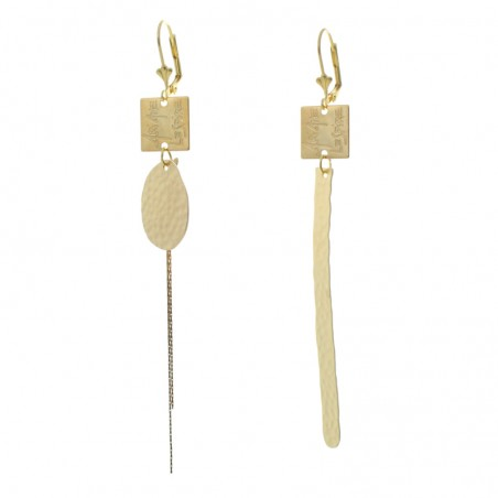 'Martelé baguette' earrings