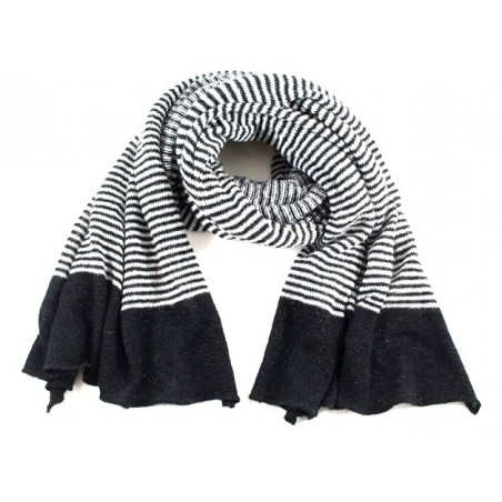 'Lou' scarf with thin black...