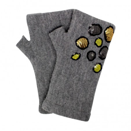 'Stone' fingerless gloves