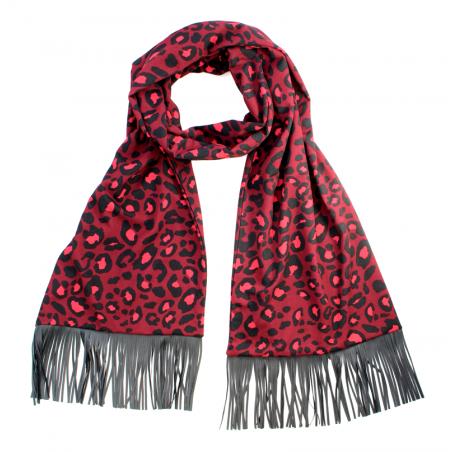 burgundy 'Jane' scarf