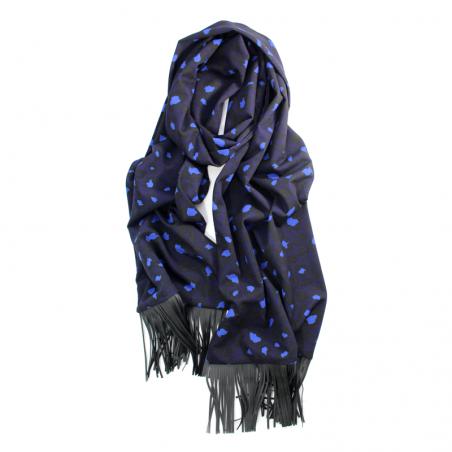 marine blue 'Jane' scarf