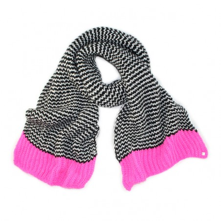 'VICHY' scarf black and white