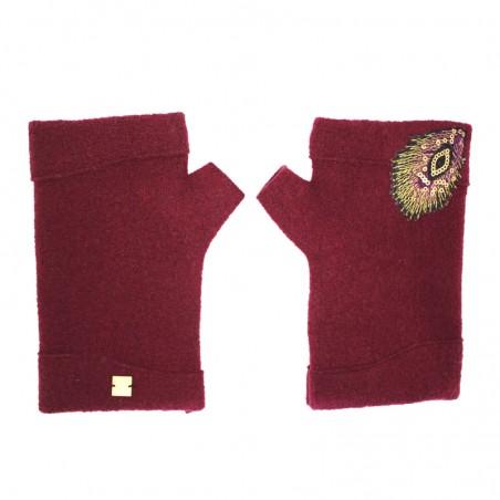 'PLUMI' fingerless gloves