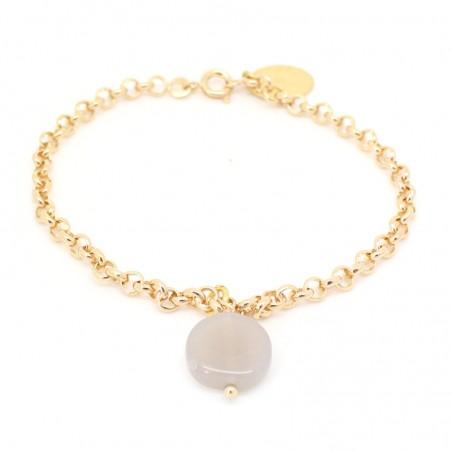 bracelet chaîne Agathe naturel