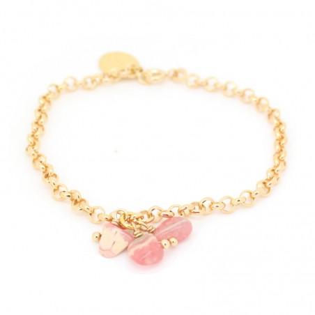 'Rhodocrosite' chain bracelet