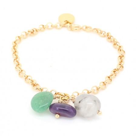 'Galets' chain bracelet