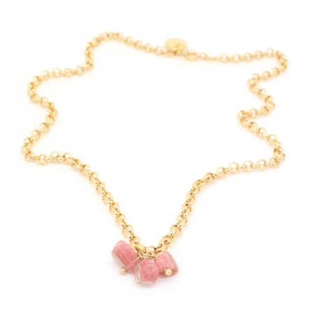 'Rhodocrosite' chain necklace