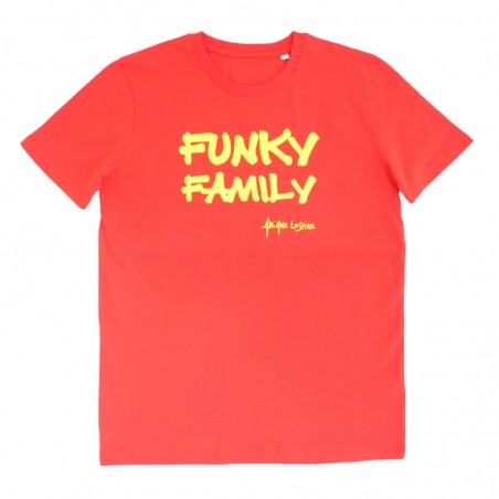 t-shirt Funky Family rouge...