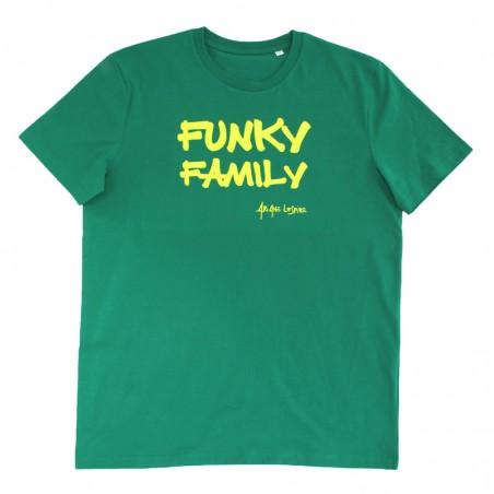 t-shirt Funky Family vert -...