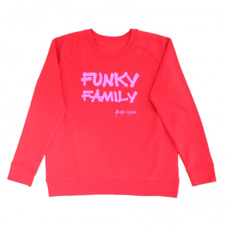 sweater Funky Family rouge...