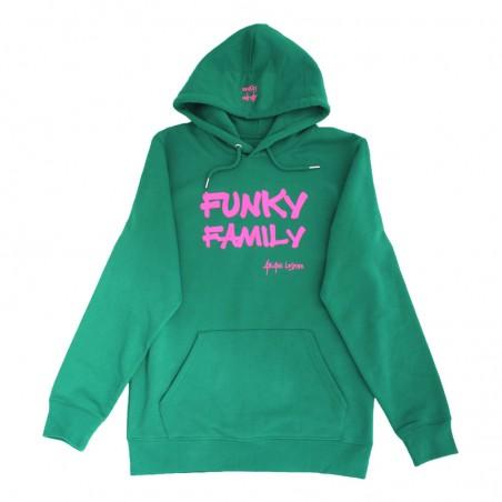 Hoodie 'Funky Family' vert...