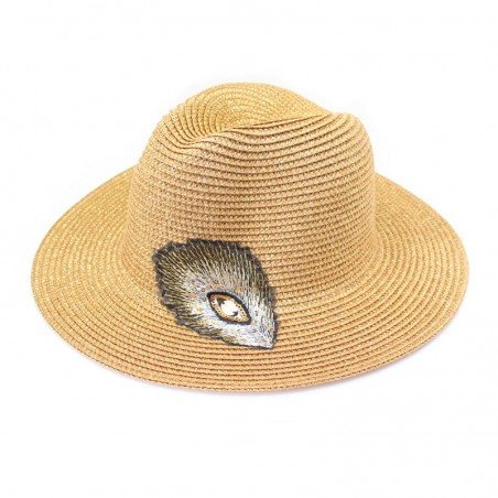 golden 'Plumi' fedora