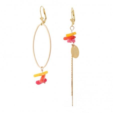 'Corail multi' earrings