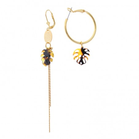 'Monstera 2' earrings creole