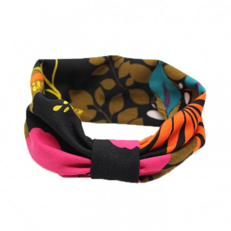 'bota' headband black-orange