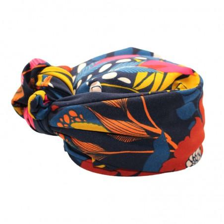 'Bota' turban marine-fuchsia