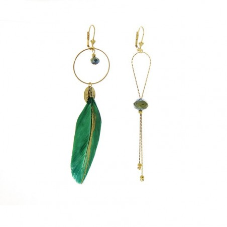 'Plumi' with ring earrings