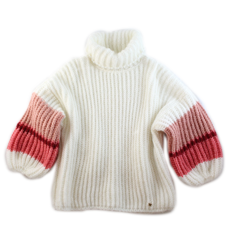 Coral 'OLGA' turtleneck