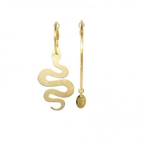 'SNAKE' creoles earrings