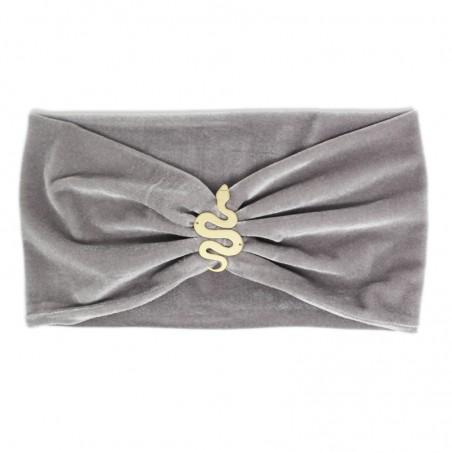 'SNAKE' velvet headband