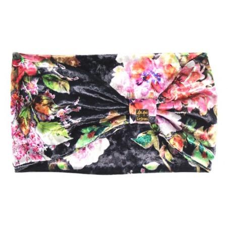 bandeau Hanami noir-rose