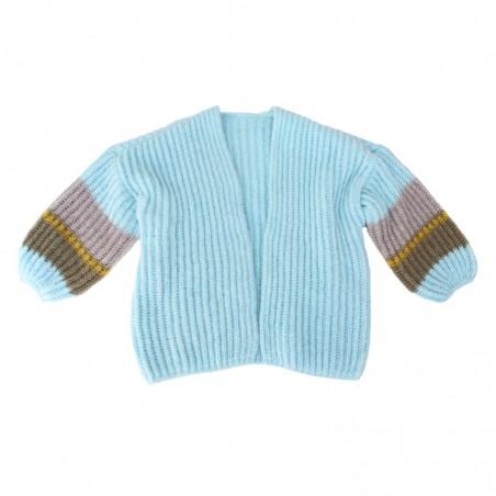 Knitted sky blue 'OLGA' vest