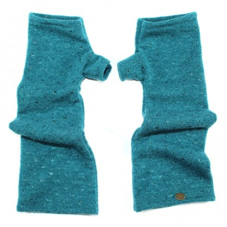 'Pepita' fingerless gloves