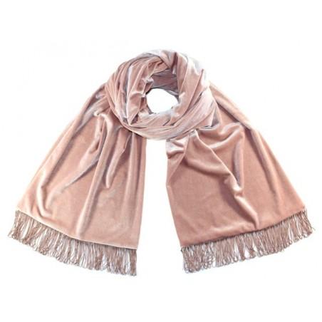 'Velvet' scarf - 'nude' color