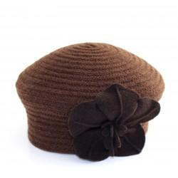 beret Popi scoubidou marron