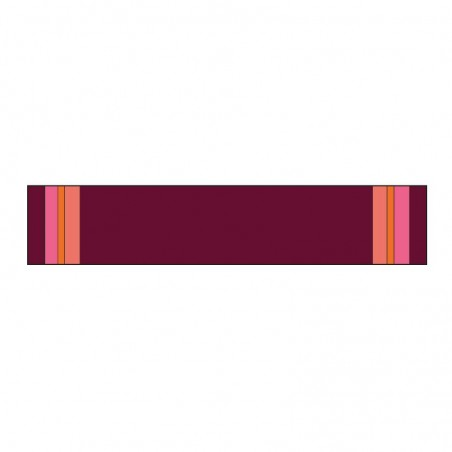 Knitted garnet 'OLGA' scarf